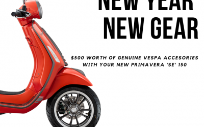 New Year, New Gear! Free $500 Vespa Accessories Pack